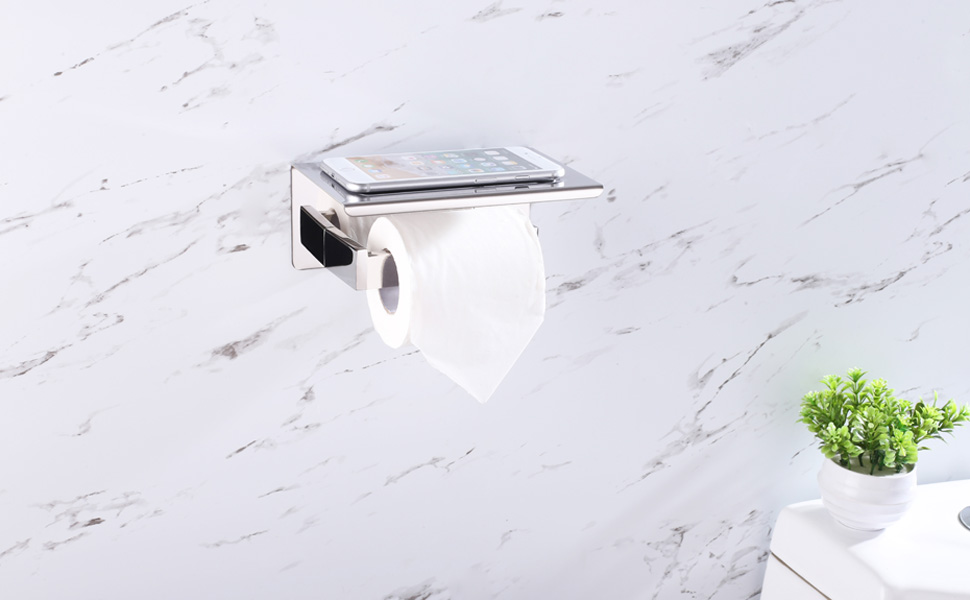 Toilet Paper Holder With Shelf