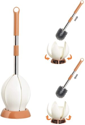 Toilet Bowl Brush Set with Automatic